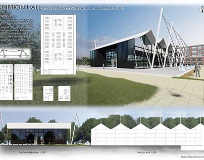 Exhibition hall presentation board