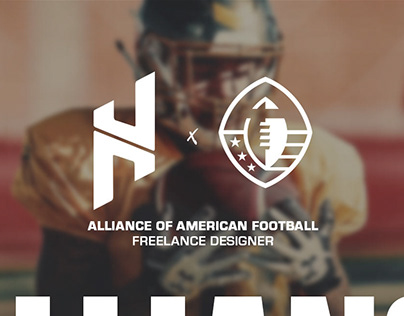 Alliance of American Football - Freelance Design