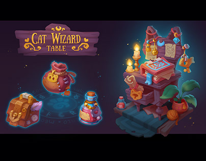 Cat Wizard Table