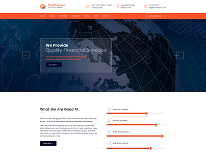 Fund Finance Web Homepage Exploration