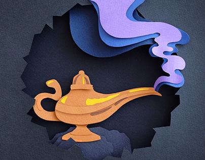 Aladdin   Paper art
