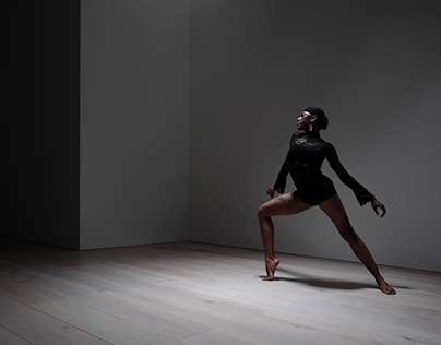 Paje Campbell photographed at Studio Wayne McGregor