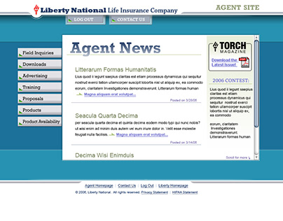 Web Design: CSS Redesign of Liberty National Agent Site