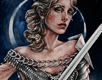 tarot. queen of swords