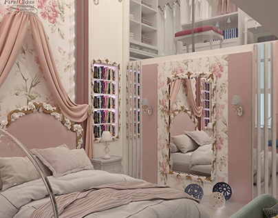 Luxury GIRL ROOM Neo classical Design