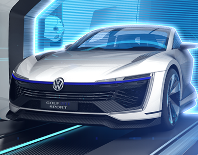 Volkswagen Golf GTE Sport Concept // Animation