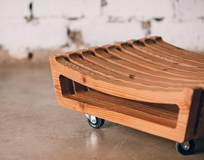 Stool Design - reclaimed material