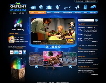 The Childrens Museum of Indianapolis Website Design