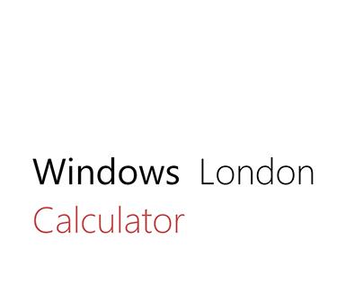 Windows London Calculator