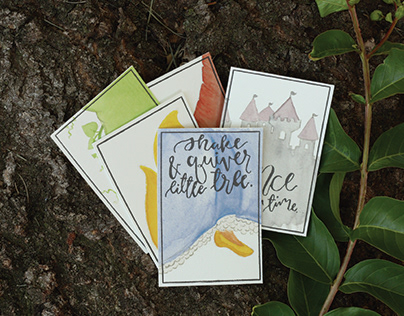 Fairy Tale Mini Letterpress Posters