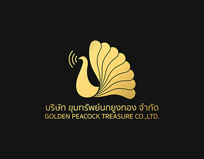 Golden Peacock Treasure Logo design