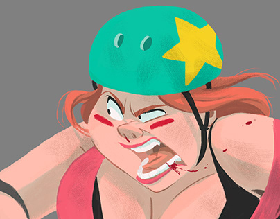 Peggie-Roller Derby girl