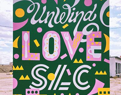 Unwind Love SLC Mural
