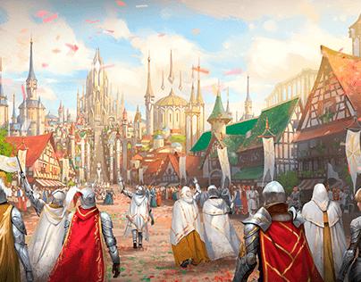 Matte Painting for Legend Story Studios