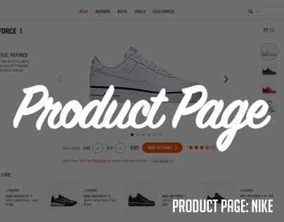 Product Page: Nike