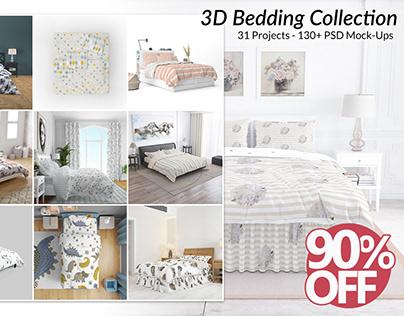 Bedding 3D Mockups Bundle