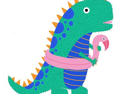 Dinosaure en bouée