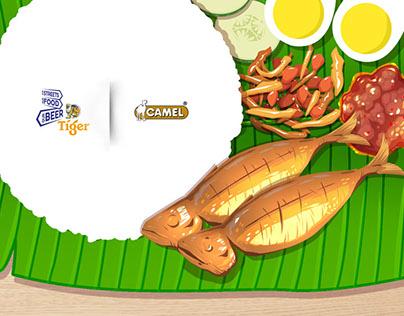 Nasi Lemak Flavoured Nuts – Tiger X Camel