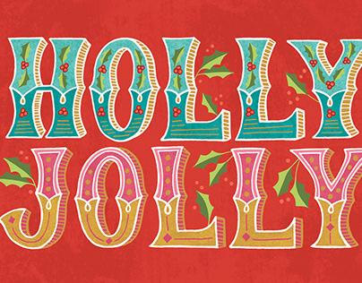 Holly Jolly holiday card