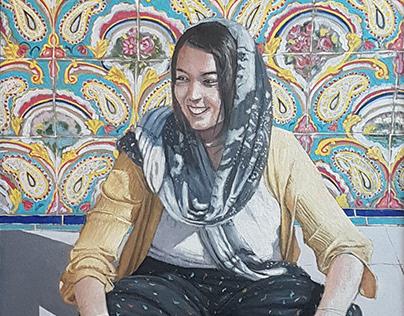 Stefánia - oil on canvas 50x40 cms
