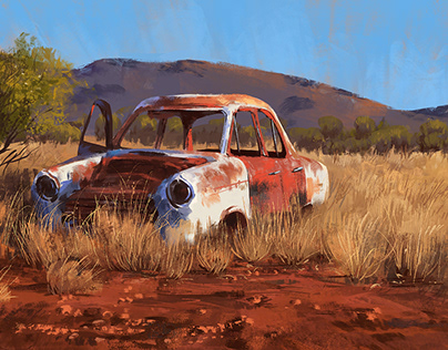 Rusty Car Study + Subscriber Download