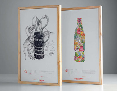 100 Years of the Coca-Cola Bottle Calendar