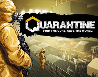 Quarantine - Game Trailer Art for Epidemy Simulator