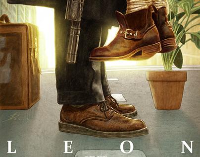 LEON alternative movie poster