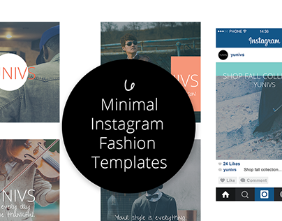 6 Minimal Instagram Fashion Templates