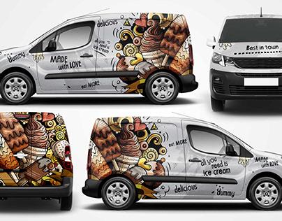 Ice cream van wrap