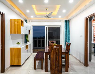 Aparna Serne Park 3 BHK  Interior Design by Tasko India