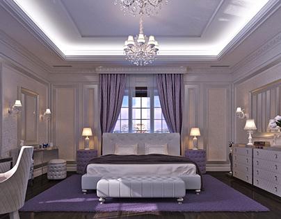 Bedroom Interior Design in Elegant Neoclassical Style