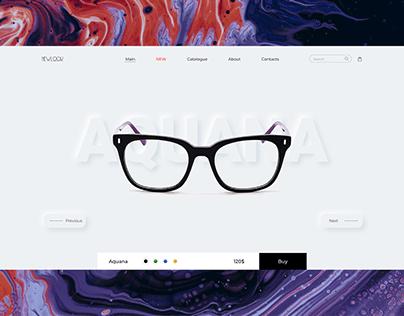 Online glasses store web design