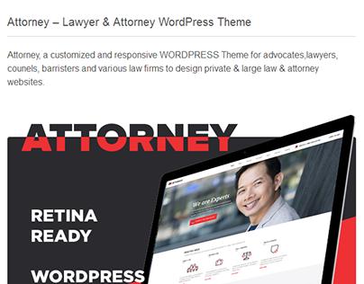 Attorney - Lawyer & Attorney WordPress Theme