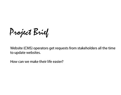 Sample project: Task management tool for a CMS Operator