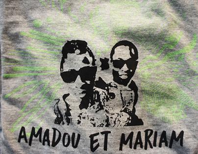 Serigrafía Amadou et Mariam