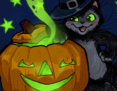 Two Spooky Cats