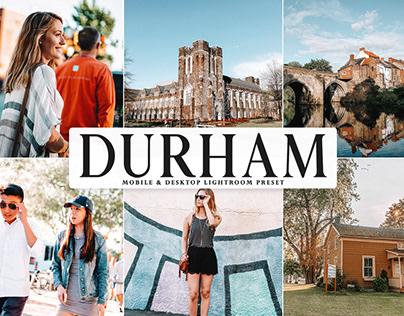 Free Durham Mobile & Desktop Lightroom Preset