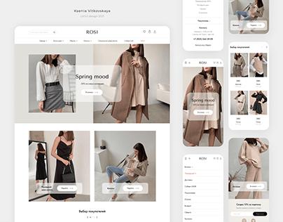 """Интернет-магазин женской одежды """"ROSI"""""""