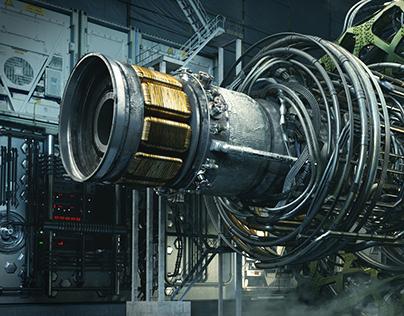Antimatter engine