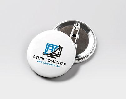 Computer Logo Design - (Free Logo Mockup)
