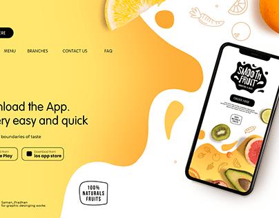 Website Banner for Food Delivery App