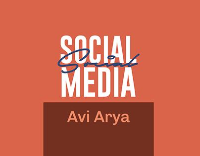 SOCIAL MEDIA POSTS - AVI ARYA by Harsh Gogia