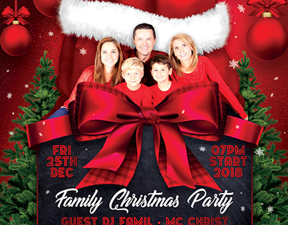 Family Christmas Party Flyer