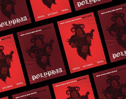 Polyphia NLND India Tour (Artwork/Poster)