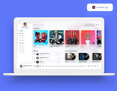 Music Player Web App - (Freebie)
