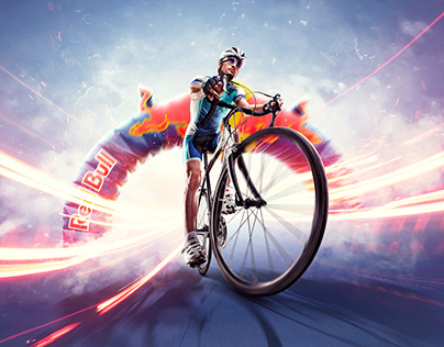 Red Bull bicycle contest key visual proposal