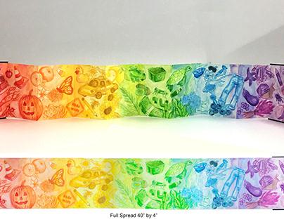 Rainbow Spectrum Accordion Sketchbook