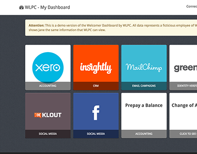 WLPC - My Dashboard prototype