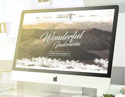 Wonderful Indonesia | UI Website Design